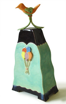urn kind kinderurn vogel ballon